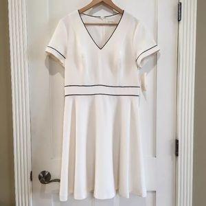 [Shoshanna] Ivory White A line Dress